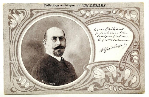 Collection artistique du vin Désiles. Alfred Capus. : [carte postale] / P. Boyer.